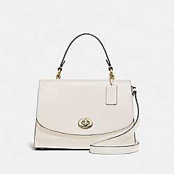 TILLY TOP HANDLE SATCHEL - F76618 - CHALK/GOLD
