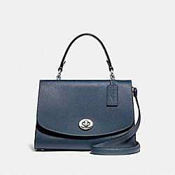TILLY TOP HANDLE SATCHEL - F76618 - DENIM/SILVER