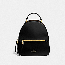 JORDYN BACKPACK WITH SIGNATURE CANVAS - F76622 - BROWN/BLACK/GOLD