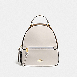COACH F76622 Jordyn Backpack With Signature Canvas KHAKI/CHALK/GOLD