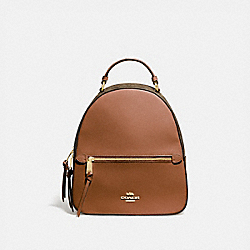 COACH F76622 - JORDYN BACKPACK WITH SIGNATURE CANVAS IM/KHAKI/SADDLE 2