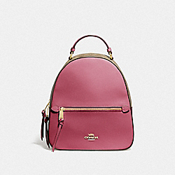 COACH F76622 - JORDYN BACKPACK WITH SIGNATURE CANVAS LIGHT KHAKI/ROUGE/GOLD