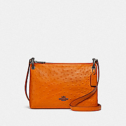 MIA CROSSBODY - F76644 - DARK ORANGE/BLACK ANTIQUE NICKEL
