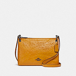 MIA CROSSBODY - F76644 - MUSTARD YELLOW/BLACK ANTIQUE NICKEL