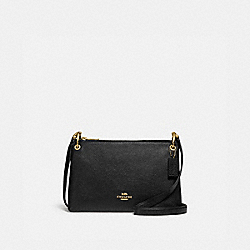 MIA CROSSBODY - F76645 - BLACK/GOLD