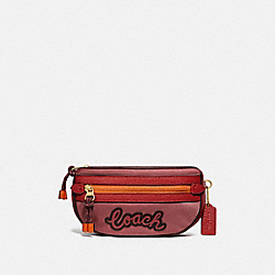 COACH F76649 - VALE BELT BAG ROUGE MULTI/IMITATION GOLD