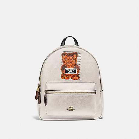 COACH F76656 MEDIUM CHARLIE BACKPACK WITH VANDAL GUMMY CHALK MULTI/GOLD