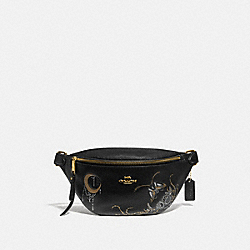 COACH F76661 - BELT BAG WITH CHELSEA ANIMATION BLACK/MULTI/IMITATION GOLD