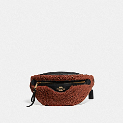COACH F76662 - BELT BAG GINGER/BLACK/IMITATION GOLD