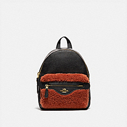 COACH F76666 - MINI CHARLIE BACKPACK GINGER/BLACK/IMITATION GOLD