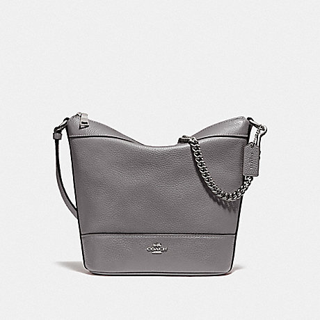 COACH F76668 SMALL PAXTON DUFFLE HEATHER GREY/SILVER