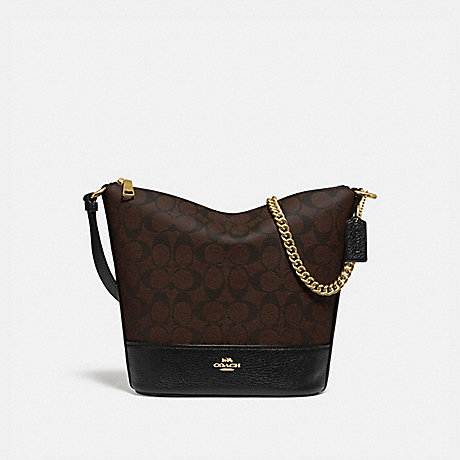 COACH F76669 SMALL PAXTON DUFFLE IN SIGNATURE CANVAS BROWN/BLACK/IMITATION GOLD