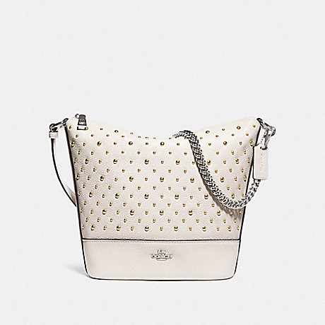 COACH F76671 SMALL PAXTON DUFFLE WITH RIVETS CHALK/SILVER