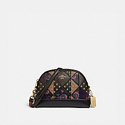 COACH F76672IMA47 Dome Crossbody In Signature Patchwork IM/BLACK MULTI