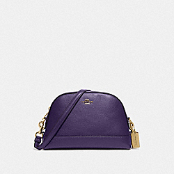 DOME CROSSBODY - F76673 - IM/DARK PURPLE