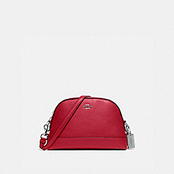 COACH F76673 Dome Crossbody SV/BRIGHT CARDINAL