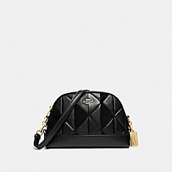 COACH F76675IMBLK - DOME CROSSBODY WITH PATCHWORK IM/BLACK