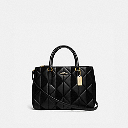 COACH F76679 - SURREY CARRYALL WITH PATCHWORK IM/BLACK