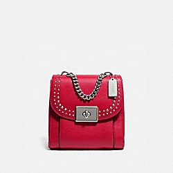 COACH F76692 Cassidy Backpack With Rivets SV/BRIGHT CARDINAL