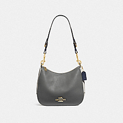 COACH F76697IMP50 Jes Hobo In Colorblock IM/HEATHER GREY CHALK MULTI
