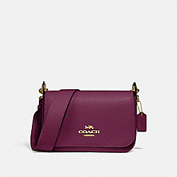 COACH F76698 - SMALL JES MESSENGER IM/DARK BERRY