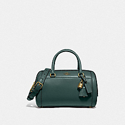 ZOE BARREL SATCHEL - F76705 - IM/EVERGREEN