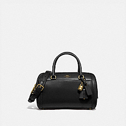 ZOE BARREL SATCHEL - F76705 - IM/BLACK