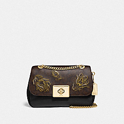 COACH F76709 - CASSIDY CROSSBODY IN SIGNATURE CANVAS WITH TULIP PRINT EMBROIDERY IM/BROWN BLACK MULTI