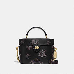 COACH F76713 - KAY CROSSBODY WITH RIBBON BOUQUET PRINT IM/BLACK PINK MULTI