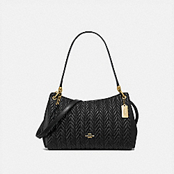 SMALL MIA SHOULDER BAG WITH QUILTING - F76721 - IM/BLACK