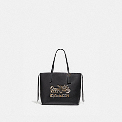 COACH F76776 - TOTE WITH CHELSEA ANIMATION BLACK/MULTI/IMITATION GOLD