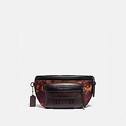COACH F76785 Terrain Belt Bag With Camo Print RUST/BLACK ANTIQUE NICKEL