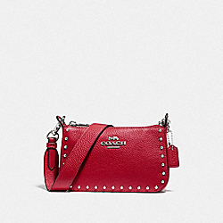 COACH F76788SVP4Z Jes Crossbody With Rivets SV/BRIGHT CARDINAL