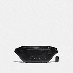 COACH F76799 Warren Belt Bag With Coach Script BLACK/BLACK ANTIQUE NICKEL