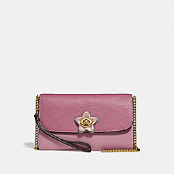 COACH F76824 - CHAIN CROSSBODY IM/ROSE