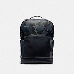 GRAHAM BACKPACK IN SIGNATURE CANVAS WITH CAMO PRINT - F76841 - BLUE MULTI/BLACK ANTIQUE NICKEL