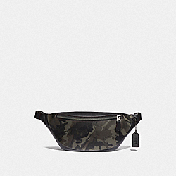 COACH F76845 Warren Belt Bag With Camo Print GREEN/BLACK ANTIQUE NICKEL