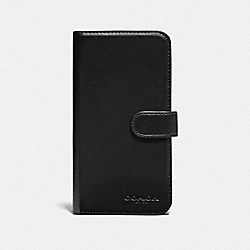 COACH F76848 Iphone X/xs Folio BLACK/BLACK ANTIQUE NICKEL