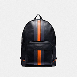 COACH F76868 - HOUSTON BACKPACK WITH BASEBALL STITCH MIDNIGHT NAVY/ CADET/ DARK ORANGE/BLACK ANTIQUE NICKEL