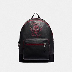 WEST BACKPACK WITH SKULL MOTIF - F76905 - QB/BLACK MULTI