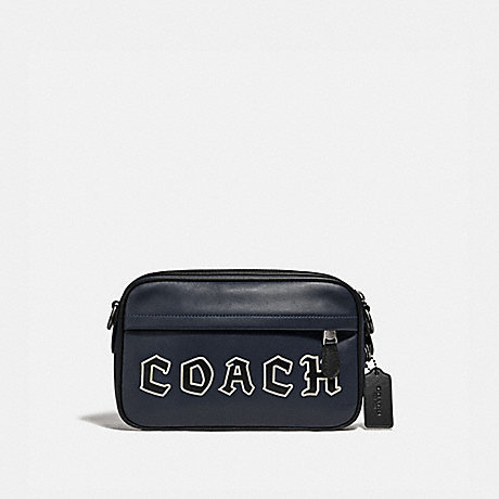 COACH F76926 GRAHAM CROSSBODY WITH COACH SCRIPT MIDNIGHT NAVY/BLACK ANTIQUE NICKEL
