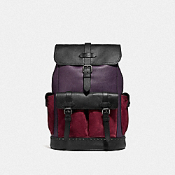 HUDSON BACKPACK IN COLORBLOCK - F76928 - QB/DEEP PURPLE MULTI