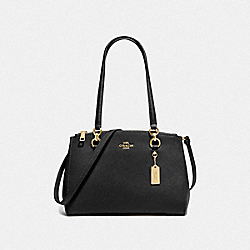 COACH F76938 - ETTA CARRYALL BLACK/GOLD