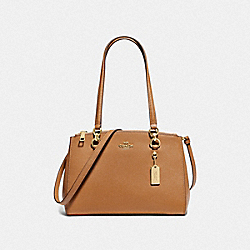 COACH F76938 - ETTA CARRYALL LIGHT SADDLE/GOLD