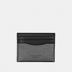 COACH F76970 Slim Card Case QB/GUNMETAL