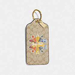 COACH F76999 - COACH RADIAL RAINBOW HANGTAG IN SIGNATURE CANVAS MULTICOLOR