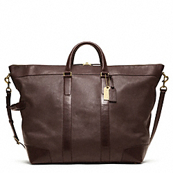 CROSBY DUFFLE IN LEATHER - f77247 -  OAK