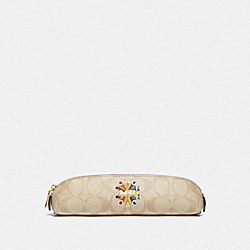 PENCIL CASE IN SIGNATURE CANVAS WITH COACH RADIAL RAINBOW - F77258 - MULTICOLOR