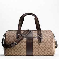 COACH F77278 - HERITAGE STRIPE DUFFLE ONE-COLOR