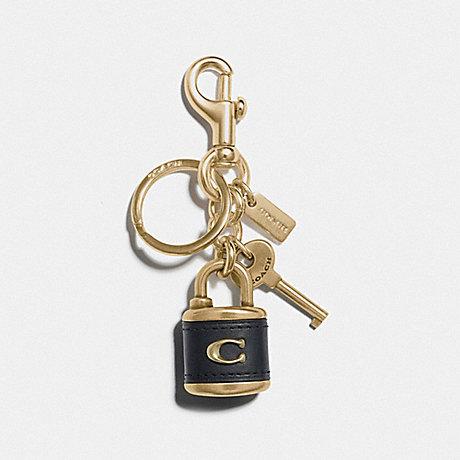 COACH F77290 LOCK AND KEY BAG CHARM BLACK/GOLD